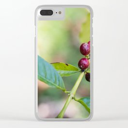Coffee Plant Clear iPhone Case