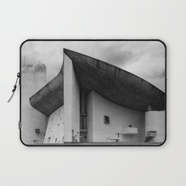 the iconic and dramatic chapel of Notre-Dame du Haut at Ronchamp by Architect Le Corbusier Laptop Sleeve