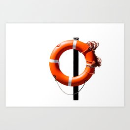 Orange live saving ring Art Print