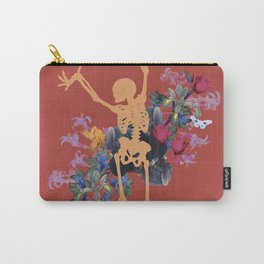 Gold Orange Jungle Skeleton Carry-All Pouch