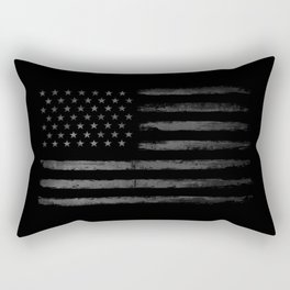 Grey Graunge American flag Rectangular Pillow