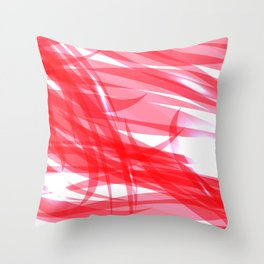 Red and smooth sparkling lines of pink ribbons on the theme of space and abstraction. Throw Pillow