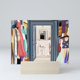 Carrie Bradshaw's walk-in wardrobe Mini Art Print