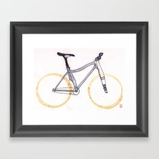 Coffee Wheels #04 Framed Art Print