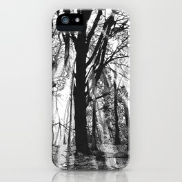 Pointillistic forest iPhone Case