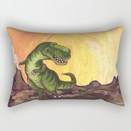 Animal Parade Tyrannosaurus Rectangular Pillow