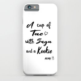 BTS A CUP OF TAE WITH SUGA AND A KOOKIE iPhone Case