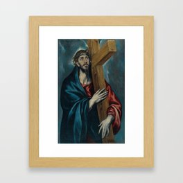 El Greco - Christ Carrying the Cross Framed Art Print