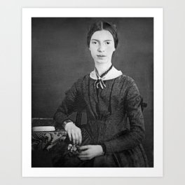 Emily Dickinson Portrait Art Print