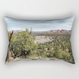 The View from Coyote Ridge Trail in Red Rock State Park Rectangular Pillow