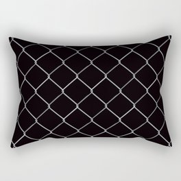 Black Chainlink Rectangular Pillow
