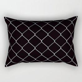 Black Chainlink Rectangular Pillow