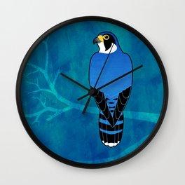 Peregrine Falcon (Falco peregrinus) Wall Clock