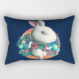White rabbit  Rectangular Pillow