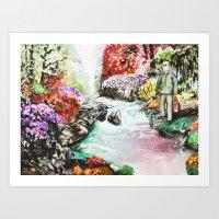Kinkade On Camp Crystal Lake Art Print