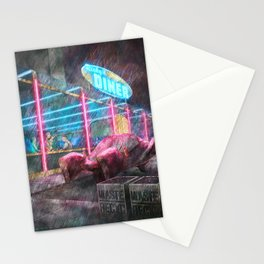 Diner at Night Stationery Cards
