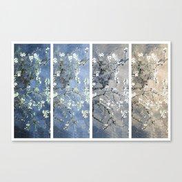 Vincent Van Gogh : Almond Blossoms Panel Art Blue Beige Canvas Print