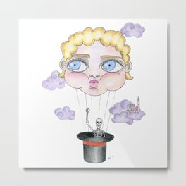 doll face balloon Metal Print