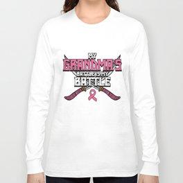 Breast Cancer Awareness Art For Warrior Women Light Dark Long Sleeve T-shirt