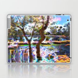 Trees Pond and Light Streams Laptop & iPad Skin