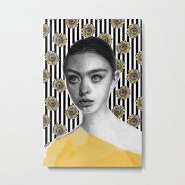 Sun's Flower Metal Print