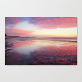 A Sunset Like Cotton Candy Canvas Print