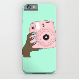 Pink camera hand iPhone Case