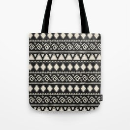 Vintage white black geometrical aztec tribal Tote Bag