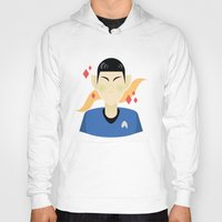 spock Hoodies featuring spock by monsternist