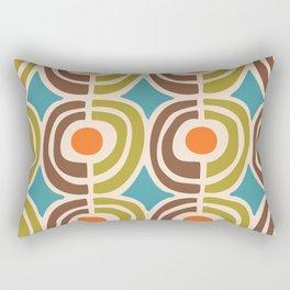 Mid Century Modern Solar Flares Pattern Rectangular Pillow