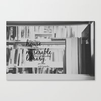jane austen Canvas Prints featuring Jane Austen Library by KimberosePhotography