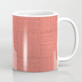 Salmon Pink Faux Bois Wood Pattern Coffee Mug
