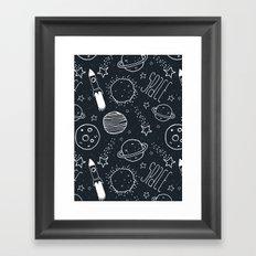Space Doodles Framed Art Print