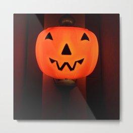 Pumpkin Laughs Metal Print