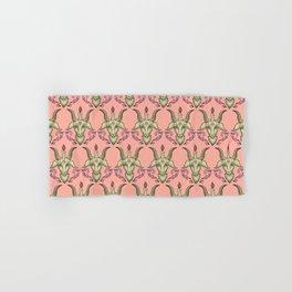 Pink Baphomet Damask Hand & Bath Towel