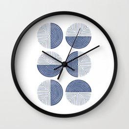 Labyrinth - Navy Wall Clock