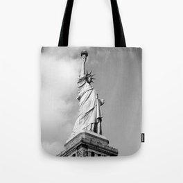 Black and white Statue of Liberty - Liberty Island, New York Tote Bag