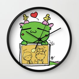 Kuma the dragon Wall Clock