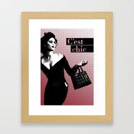 C'est Chic Framed Art Print