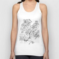 airplane Tank Tops featuring Airplane by ℳajd