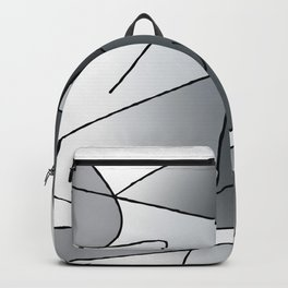 ABSTRACT CURVES #2 (Grays) Backpack