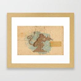 Monkey Island Framed Art Print