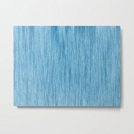 Crinkle in Blue Metal Print