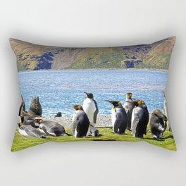 King Penguins and Fur Seals Rectangular Pillow