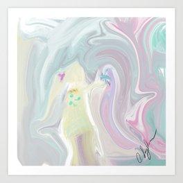 Girl playing Art Print