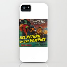 The Return of the Vampire, vintage horror movie poster iPhone Case