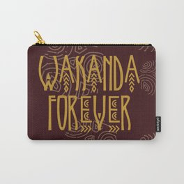 Wakanda Forever Red Carry-All Pouch
