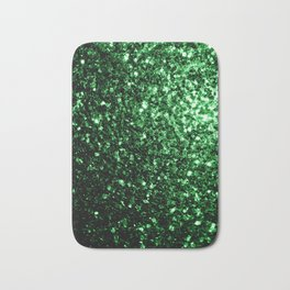 Glamour Dark Green glitter sparkles Bath Mat