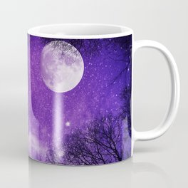 Nightsky with Full Moon in Ultra Violet Coffee Mug