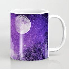 Nightsky with Full Moon in Ultra Violet Coffee Mug